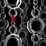Esfera de cristal con un punto rojo Fotos de archivo