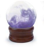 Esfera de cristal no branco Imagens de Stock Royalty Free