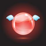 Esfera de cristal vermelha Imagem de Stock Royalty Free