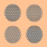 Esfera de cuatro zentangle Imagen de archivo