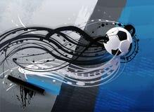 Esfera de futebol abstrata em um grunge Fotografia de Stock