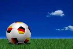 Esfera de futebol alemão Fotos de Stock Royalty Free