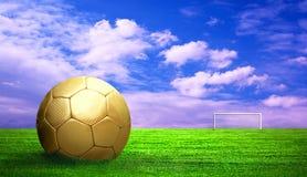 Esfera de futebol ao ar livre Imagem de Stock