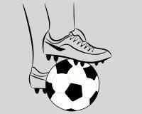 Esfera de futebol branca Fotografia de Stock