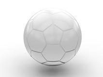 Esfera de futebol branca Imagens de Stock