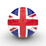 Esfera de futebol britânica ilustração royalty free