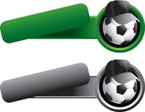 Esfera de futebol com o chapéu em moldes inclinados da bandeira Imagens de Stock