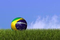 Esfera de futebol de Brasil Fotos de Stock Royalty Free