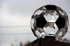Esfera de futebol de vidro Fotos de Stock Royalty Free