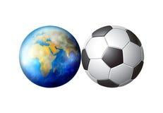 Esfera de futebol do mundo Imagens de Stock Royalty Free