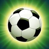 Esfera de futebol do vetor Fotografia de Stock