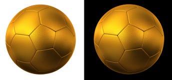 Esfera de futebol dourada Fotos de Stock Royalty Free