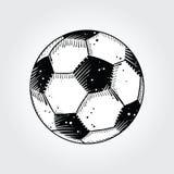 Esfera de futebol, esboçada Fotografia de Stock Royalty Free