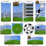 Esfera de futebol estacionária Foto de Stock Royalty Free