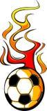 Esfera de futebol flamejante v1 Fotos de Stock