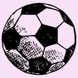 Esfera de futebol, futebol Imagens de Stock