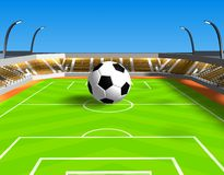 Esfera de futebol grande Imagem de Stock Royalty Free
