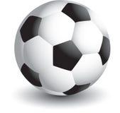 Esfera de futebol isolada Imagem de Stock