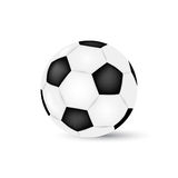Esfera de futebol isolada no fundo branco Futebol Ilustração Stock