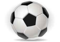 Esfera de futebol isolada sobre com Imagem de Stock Royalty Free