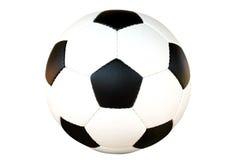 A esfera de futebol isolou-se fotografia de stock