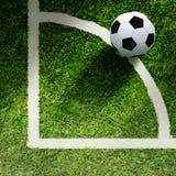 Esfera de futebol na grama ilustração royalty free