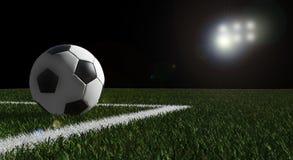 Esfera de futebol no campo do estádio Ilustração do Vetor