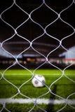 Esfera de futebol no estádio 3 Fotografia de Stock