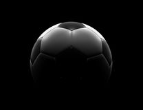 Esfera de futebol no fundo preto Fotografia de Stock