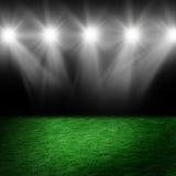 Esfera de futebol no gramado do estádio Imagem de Stock