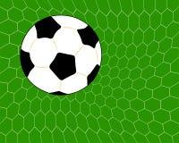 Esfera de futebol no objetivo Fotos de Stock