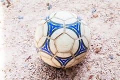 Esfera de futebol velha Foto de Stock Royalty Free