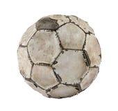 Esfera de futebol velha Fotos de Stock Royalty Free