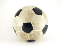 Esfera de futebol velha Fotos de Stock