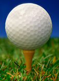 Esfera de golfe Imagens de Stock