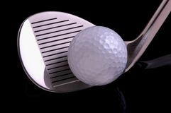 Esfera de golfe & Cluub imagens de stock