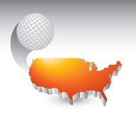 Esfera de golfe de Estados Unidos ilustração stock