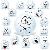 Esfera de golfe do vetor ilustração royalty free