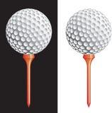 Esfera de golfe do vetor no T ilustração stock