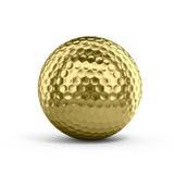 Esfera de golfe dourada Imagens de Stock