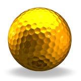 Esfera de golfe dourada fotografia de stock royalty free