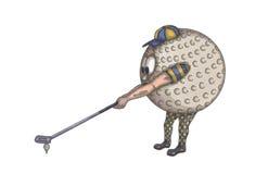 Esfera de golfe humana ilustração do vetor