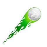Esfera de golfe quente Fotografia de Stock Royalty Free