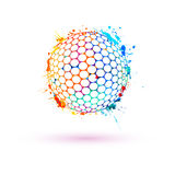 Esfera de golfe Vector o sinal ilustração stock
