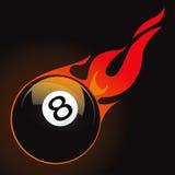 esfera de incêndio de 8 associações Ilustração do Vetor