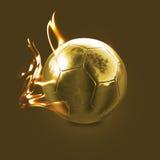 Esfera de incêndio dourada Fotografia de Stock Royalty Free