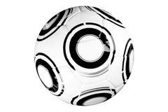 Esfera de jogo moderna do futebol Fotografia de Stock Royalty Free