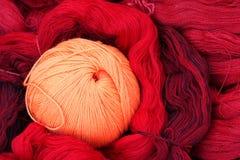 Esfera de lã do fio Foto de Stock