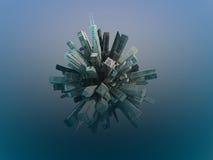 Esfera de la ciudad ilustración del vector