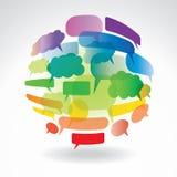 Esfera de la comunicación Imagen de archivo